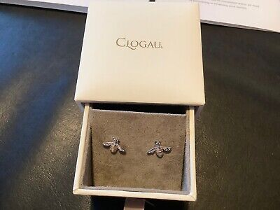Official Welsh Gold Clogau Honey Bee Earrings Sterling Silver And Gold Brand New • 54.99£