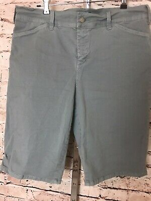 $19.99 • Buy NYDJ Not Your Daughters Jeans Christy Lift X Tuck Green Bermuda Shorts SIze 12
