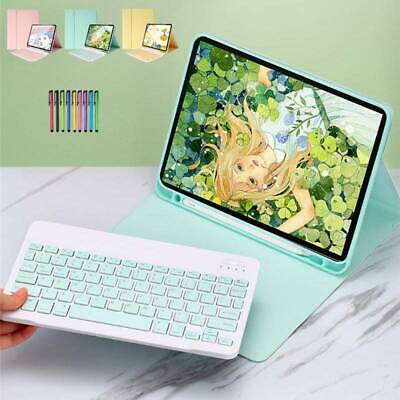 AU43.39 • Buy For IPad 9.7 10.2 Air 10.5 Pro 11 2020 Keyboard Leather Case With Pencil Holder