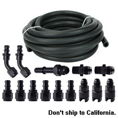 $92 • Buy 3/8 25Ft Complete LS Conversion Fuel Injection Hose Line Fitting EFI Fitting Kit