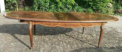 Louis XIV Style Walnut And Marquetry Extending Dining Table (300cm) • 455£