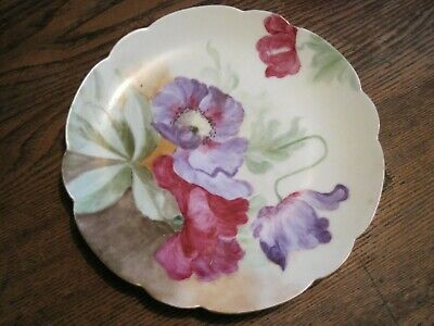 $6.99 • Buy VTG J.C.& G.H.B. Co Findlay Bavaria Hand Painted Collector Plate -COLORFUL POPPY