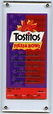 $75 • Buy Tostitos Fiesta Bowl College Football January 2, 1996 Ticket Stub - Tempe,AZ