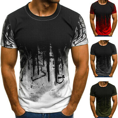 $14.99 • Buy ❤️ Men's Slim Fit Round Neck Short Sleeve Muscle Tee Casual T-shirt Tops Blouse