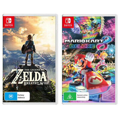 AU129 • Buy The Legend Of Zelda: Breath Of The Wild & Mario Kart 8 Deluxe Switch Game NEW