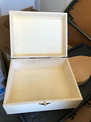 $8 • Buy Unfinished Wooden Box - 10' X 7  X 5  --with Hinges And Fastener