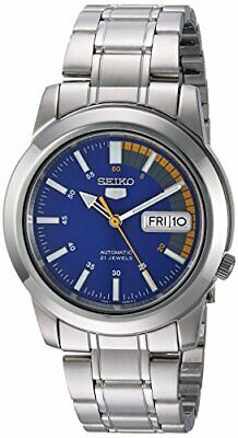 $ CDN215.19 • Buy Seiko Men's Women's SNKK27 5 Automatic Blue Dial Stainless-Steel Bracelet Watch