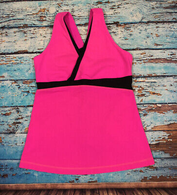 $ CDN46.23 • Buy Lululemon 10 Women's Tank Top In Hot Pink With Shelf-bra