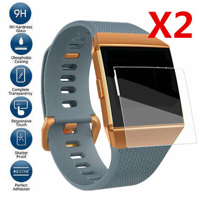 AU3.61 • Buy 2 Tempered Glass Screen Protector Cover For Fitbit Blaze Ionic Surge Smart Watch