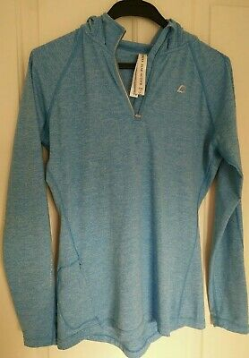 AU22.50 • Buy Lorna Jane Active Size S Blue Hooded Pullover Top