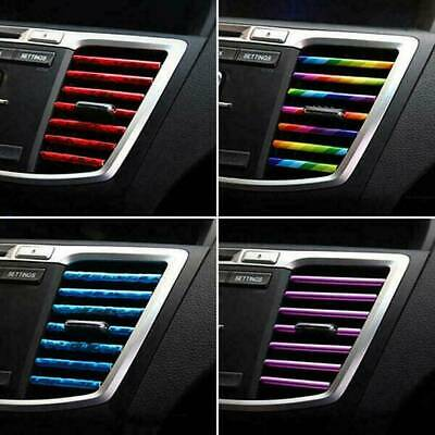 10X Auto Car Accessories Decoration Air Conditioner Air Outlet Strip Universal W • 5.25£