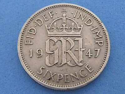 £0.99 • Buy UK LUCKY SIXPENCE, BIRTHDAY 1947-1967 FROM 99p EACH WITH FREE UK POST & PACKING