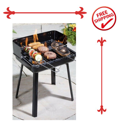 Charcoal Grill BBQ Outdoor Garden Picnic Travel Camping-Black • 55.99£