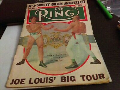 $2.49 • Buy Vintage The Ring Boxing Magazine May 1947  Joe Louis Big Tour