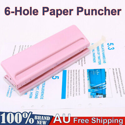 AU26.59 • Buy KW-trio Adjustable 6 Sheet Paper Punch Puncher 6-Hole Scrapbooking 6 Ring Binder