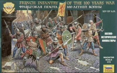 French Infantry 100 Years War 1/72 Historic Miniatures - Zvezda 8053 • 14.78£