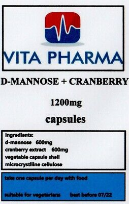 AU17.77 • Buy D-Mannose And Cranberry 1200mg 120 Capsules UTI & Bladder & Kidney Support