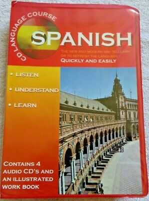 £5.99 • Buy Learn Spanish Language Course 4 CDs & Work Phrase Book Caxton Editions Espanol