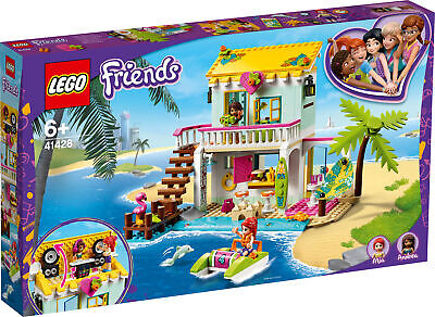 £46.59 • Buy 41428 LEGO Friends Beach House Mia & Andrea Holiday Home Set 444 Pieces Age 6+