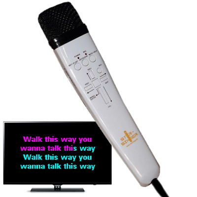 Magic Karaoke Machine Microphone. Record. Play. Sing. Connects To Your TV • 49.99£