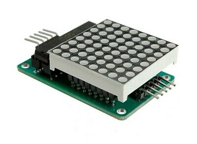 MAX7219 RED LED Dot Matrix Display Module ASSEMBLED & Tested UK For PIC Arduino • 3.20£
