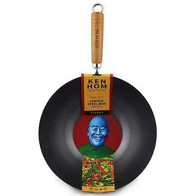 £21.16 • Buy Ken Hom Classic Carbon Steel Non-Stick Coated Wok, Authentic Asian Cooking, 31cm