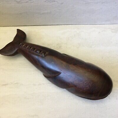 $32 • Buy Vintage 70's Ironwood Hand Carved Whale Wooden Statue Import