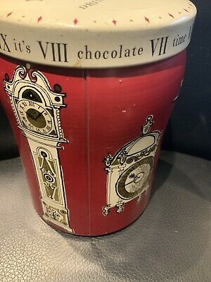 Vintage Cadburys Bournville England Drinking Chocolate Clock Tin Uk P/p Included • 12.99£