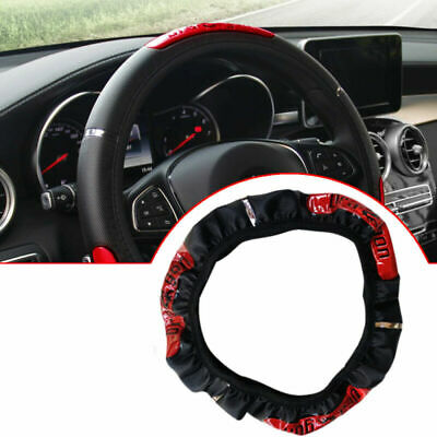 $13.99 • Buy 1x 15''/38cm Car Steering Wheel Cover Protector Accessories Anti-slip PU Leather