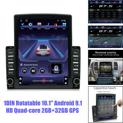 $209.59 • Buy 10.1  1DIN Android9.1 Touch Screen Quad-core 2+32GB USB Car GPS Radio MP5 Player