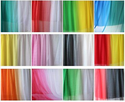 £4.67 • Buy 2-tone Ombre Gradient Color 30D Sheer Chiffon Tissu Dress Fabric Sold By Yard