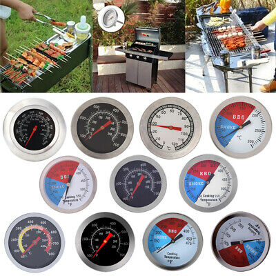 Stainless Steel BBQ Grill Oven Bimetal Dial Thermometer Gauge Useful Tool UK  • 3.04£
