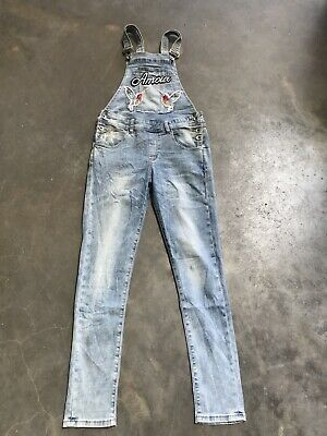 Girls Dungarees Age  13 Years Blue Denim Unbranded • 11.99£