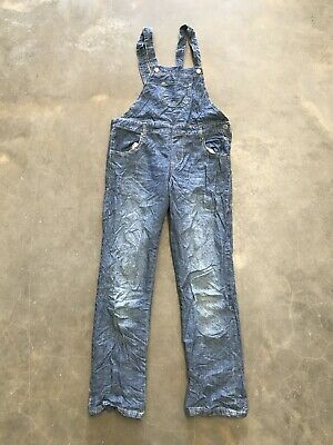Girls Dungarees Age 13-14 Years Blue Denim Unbranded • 11.99£