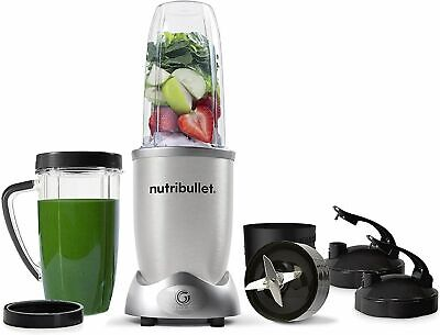 AU189 • Buy NutriBullet 1200w Series Blender 10 Piece Combo Set Silver BRAND NEW