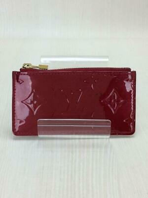 AU220 • Buy Louis Vuitton Vernis Red Pochette Cle Coin Holder M9144F