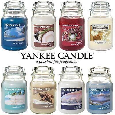 Yankee Candle Scented Fragrance Candles American Home 19oz Large Glass Jar 538g • 15.99£