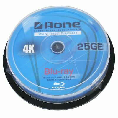 £6.99 • Buy Aone Blu Ray 25GB   Recordable Blank BD-R Discs   Inkjet Printable 1/5/10 Pack