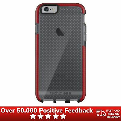 IPhone 6/6S Case Durable Impact Cover Tech21 Evo Mesh Case T21-5009 - Smokey Red • 6.99£