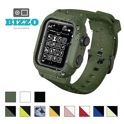 $19.95 • Buy Waterproof Tactical Rugged Apple Watch Protective Band & Case Series 1 2 3 42mm