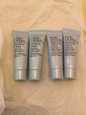 Estee Lauder Perfectly Clean Foam Cleanser / Purifying Mask 7ml X 4 • 7£