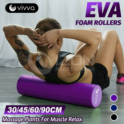 AU31.68 • Buy VIVVA EVA Yoga Foam Roller Back Training Pilates Home Gym Exercise Massage