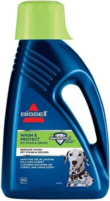 Bissel PET CARPET SHAMPOO Cleaner Wash And Protect Fragrance Bleach-Free 1.5L • 22.23£
