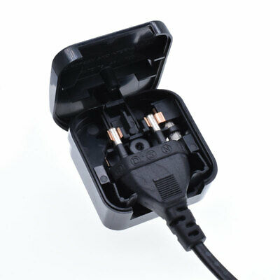 EU 2 Pin  To UK 3 Pin Plug Power Adapter CONVERTER Mains Fused Adapter BS5733 • 4.49£