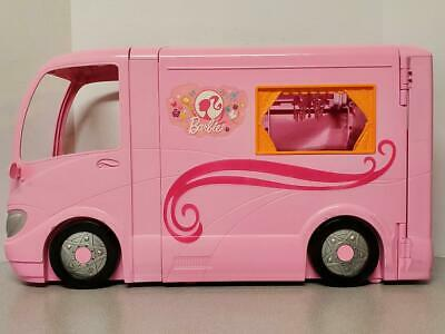 $79.99 • Buy 2009 Barbie Pink Glamour RV Camper Van With Pop Out Tent & Accessories