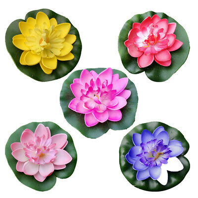 $ CDN7.36 • Buy 5Pcs Artificial Floating Lotus Flower Water Lily EVA Plant Fish Tank Home Decor