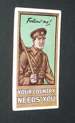 £9.88 • Buy WILLS's CIGARETTES CARD RECRUITING POSTERS WW1 1915 GUERRE 14-18 FOLLOW ME !