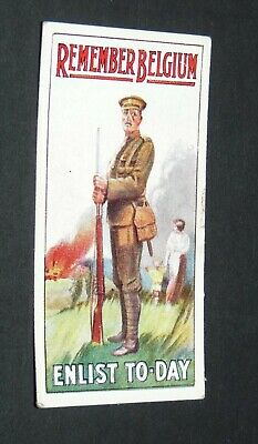 £9.88 • Buy Wills Cigarettes Card Recruiting Posters Ww1 1915 Guerre 14-18 Remember Belgium