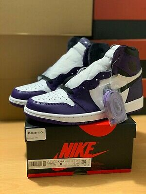 $274.99 • Buy Jordan 1 Retro High Court Purple 2.0 Size 8 Authentic Brand New In Box