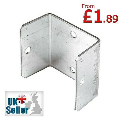 Fence Panel Clips 45mm 50mm 55mm Galvanised Brackets Fencing Post Panel Clips • 7.99£